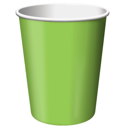 9 Oz Paper Cups (Fresh Lime, Lime Green, 9 oz Paper Cups,)