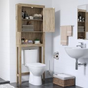 Bathroom Cabinet, Over the Toilet Space Saver, Particleboard, with 3-Shelves and 2-Doors Wall Cabinet