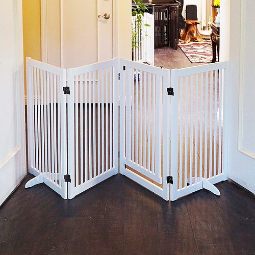 Welland LLC Wood Freestanding Pet Gate With Small Door