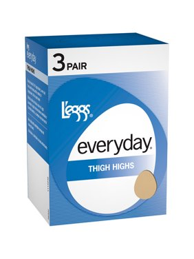 Everyday women's light sheer thigh high hosiery 3-pair