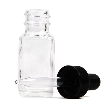 American Educational Products 7-406-2-Gr French Square Flint Bottle With Dropper, 15 Ml.