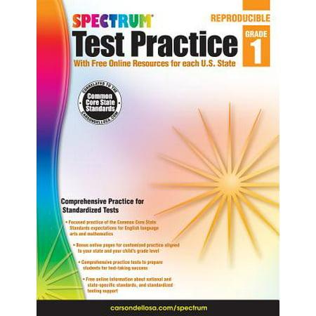 Spectrum Test Practice, Grade 1 - Spectrum Of Colors