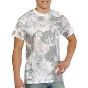 Cat Faces Print Sublimated Adult T-Shirt
