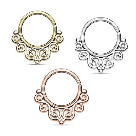 Bodyjewelryonline Septum Piercing Vintage Filigree Bendable