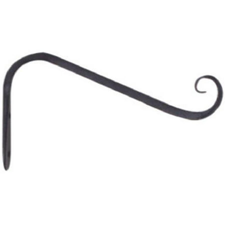 Forge Hanging (89405 5 in. Black Hanging Plant Bracket Forged Angled Hook)