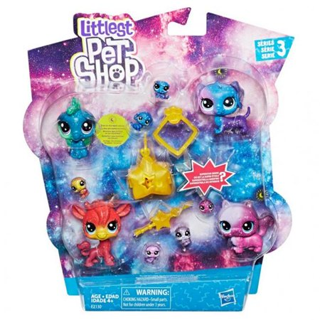 Hasbro HSBE2130 Littlest Pet Shop Cosmic Collection Pack, 6 Count
