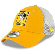 Pittsburgh Pirates New Era Cooperstown Collection 1967 Trucker 9FORTY Adjustable Hat - Gold - OSFA
