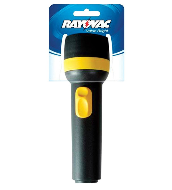 Rayovac BEK2D-A Incandescent Flashlight, 9 Lumens