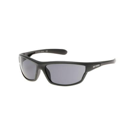 (Harley-Davidson Men's Plastic Wrap H-D Sunglasses, Matte Gray & Smoke Gray Lens, Harley Davidson)