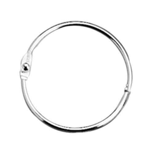 "Acco Loose Leaf Ring Binder - 2"" Diameter - Stainless Steel - 50 / Box - Silver (ACC72205)"