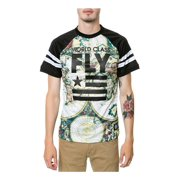 Born Fly Mens The Map Raglan Jersey Embellished T-Shirt