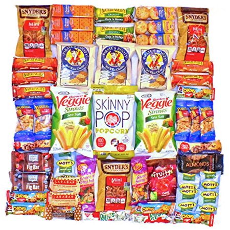 Healthy Snack Pack Variety Assortment Care Package Cookies Granola Kind Bars Larabar Natural Bulk Sampler Bars Snacks (50 Count) (Healthy Snack For Halloween Party)