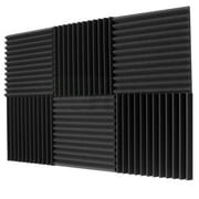 "6 Pack Acoustic Panels Studio Foam Wedges 1"" X 12"" X 12"""