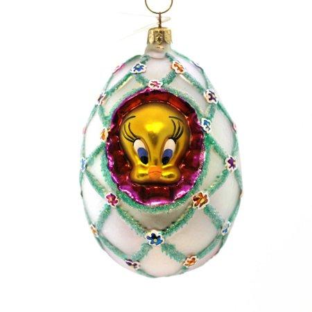 Christopher Radko FABERGE TWEETY Glass Easter Egg Warner Bros