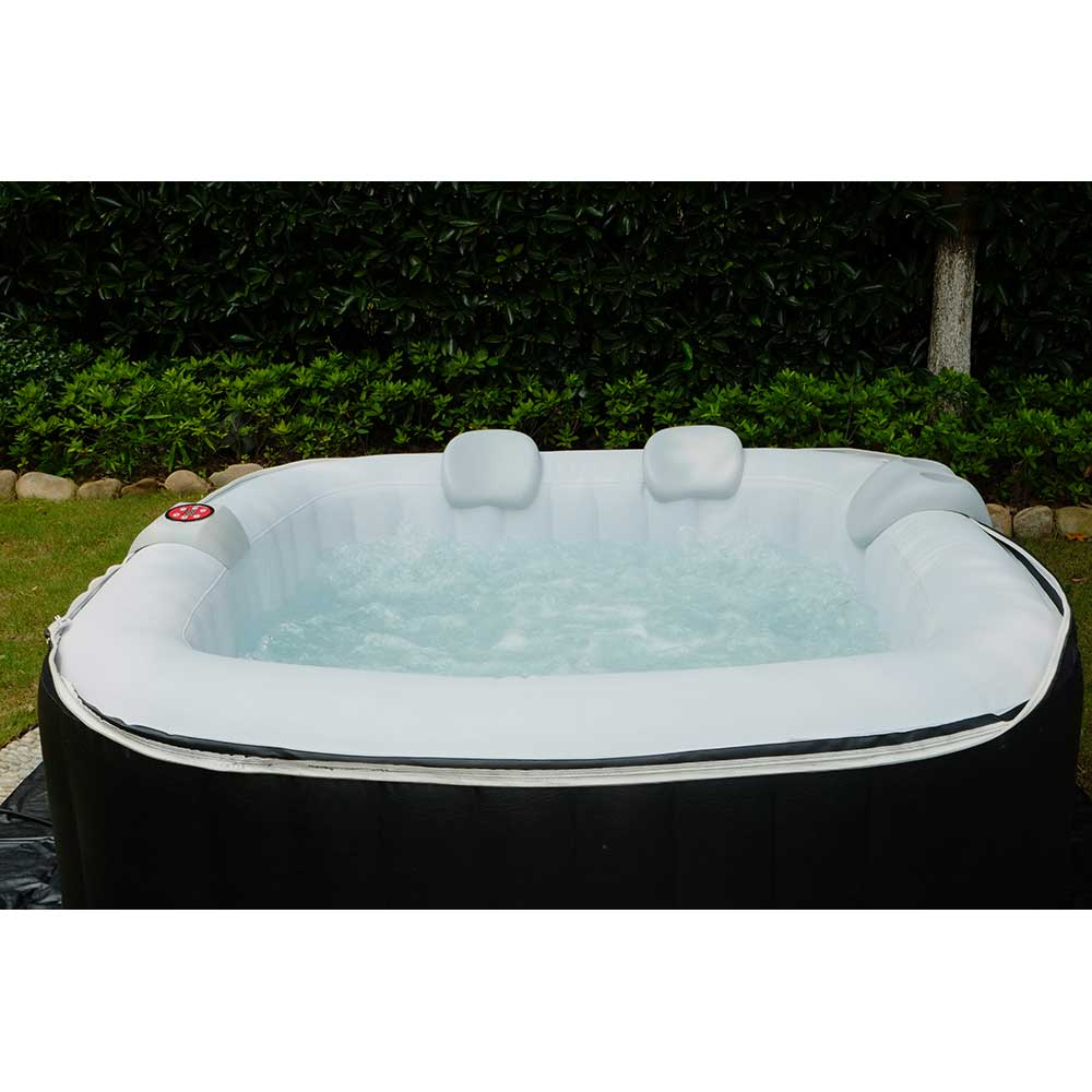 Aqua Spa Deluxe 4-6 Person Portable Inflatable Spa by Blue Water ...
