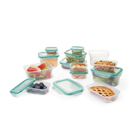 OXO Good Grips 28 Piece Smart Seal Plastic Food Storage Container Set
