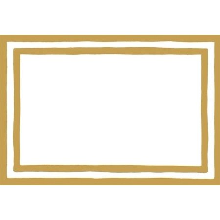 Table Place Cards 8pk 80945P Stripe Border Gold Foil