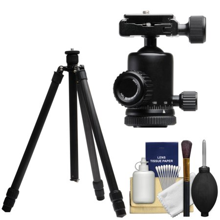Terra Firma T Cf400 56   Carbon Fiber 4 Section Tripod Legs   Case With Pro Metal Ball Head   Cleaning Kit
