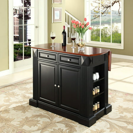 - Crosley Furniture Drop Leaf Breakfast Bar Top Kitchen Island