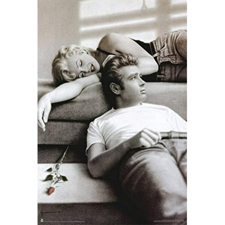 Flute Song (Marilyn Dean and Rose) by Paul Gassenheimer 36x24 Art Print Poster Marilyn Monroe and James Dean Romance](Halloween Songs To Print)