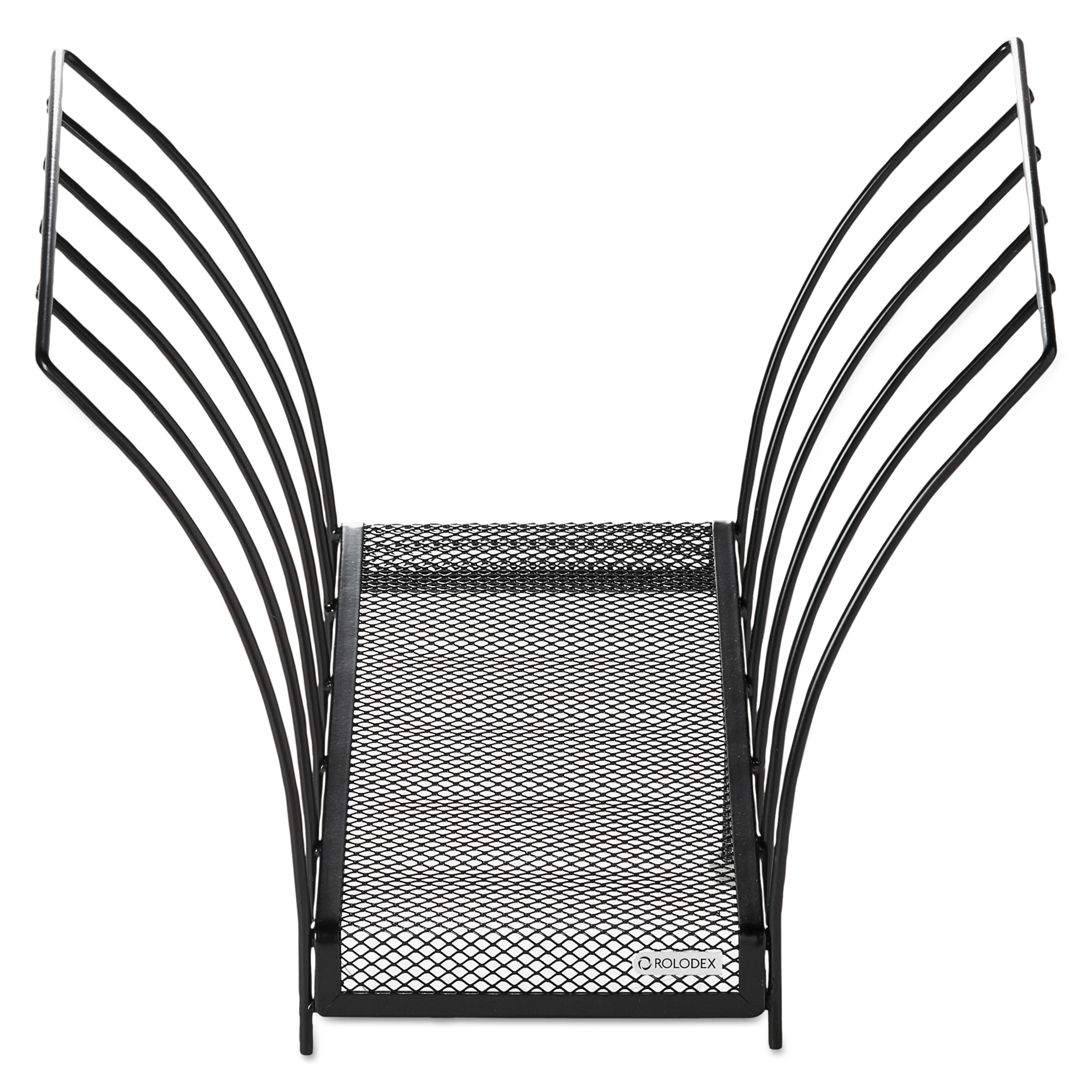 Rolodex Butterfly File Sorter, Five Sections, Mesh, 12 x 7 1/2 x 10, Black