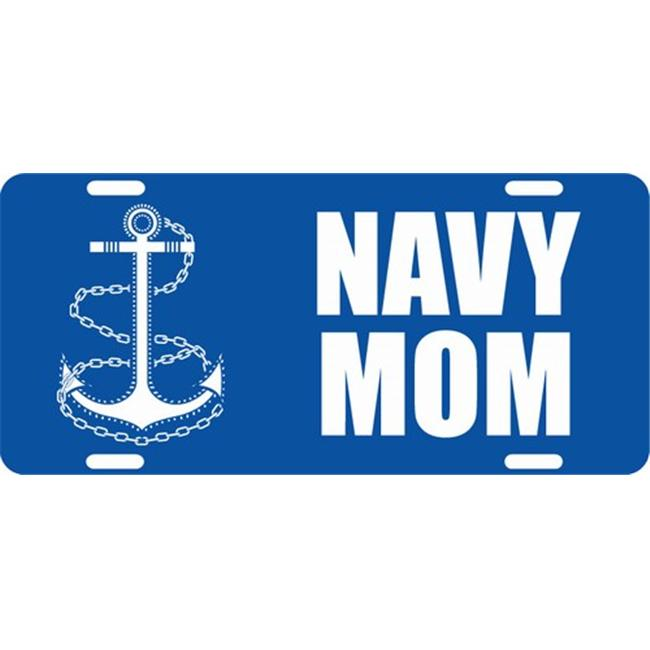LP - 1110 US Navy Mom License Plate - X302
