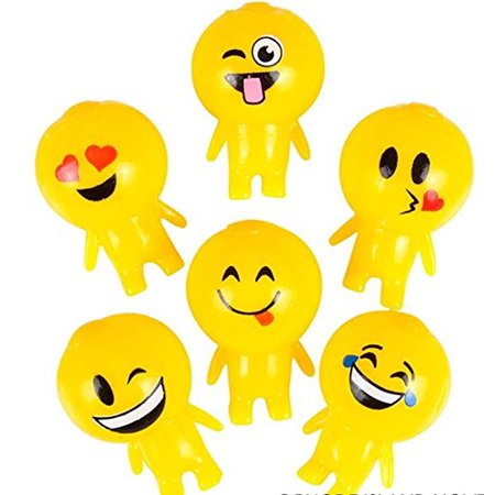 1- Emoticon Emoji Splat Ball Squishy Toy Halloween Decoration ( Face Will Vary ) (Halloween Cheese Ball Face)