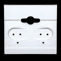 Earring Hang Cards White Flocked 1.5 X 1.5 Inches (100)