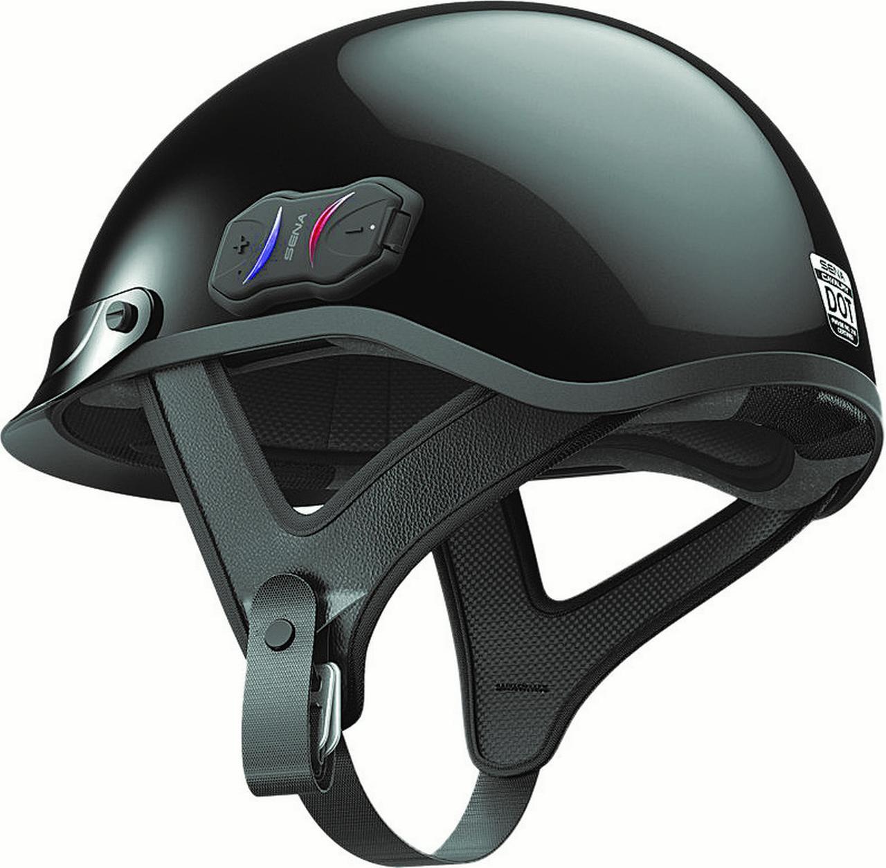 Sena Cavalry Black Bluetooth Half Helmet