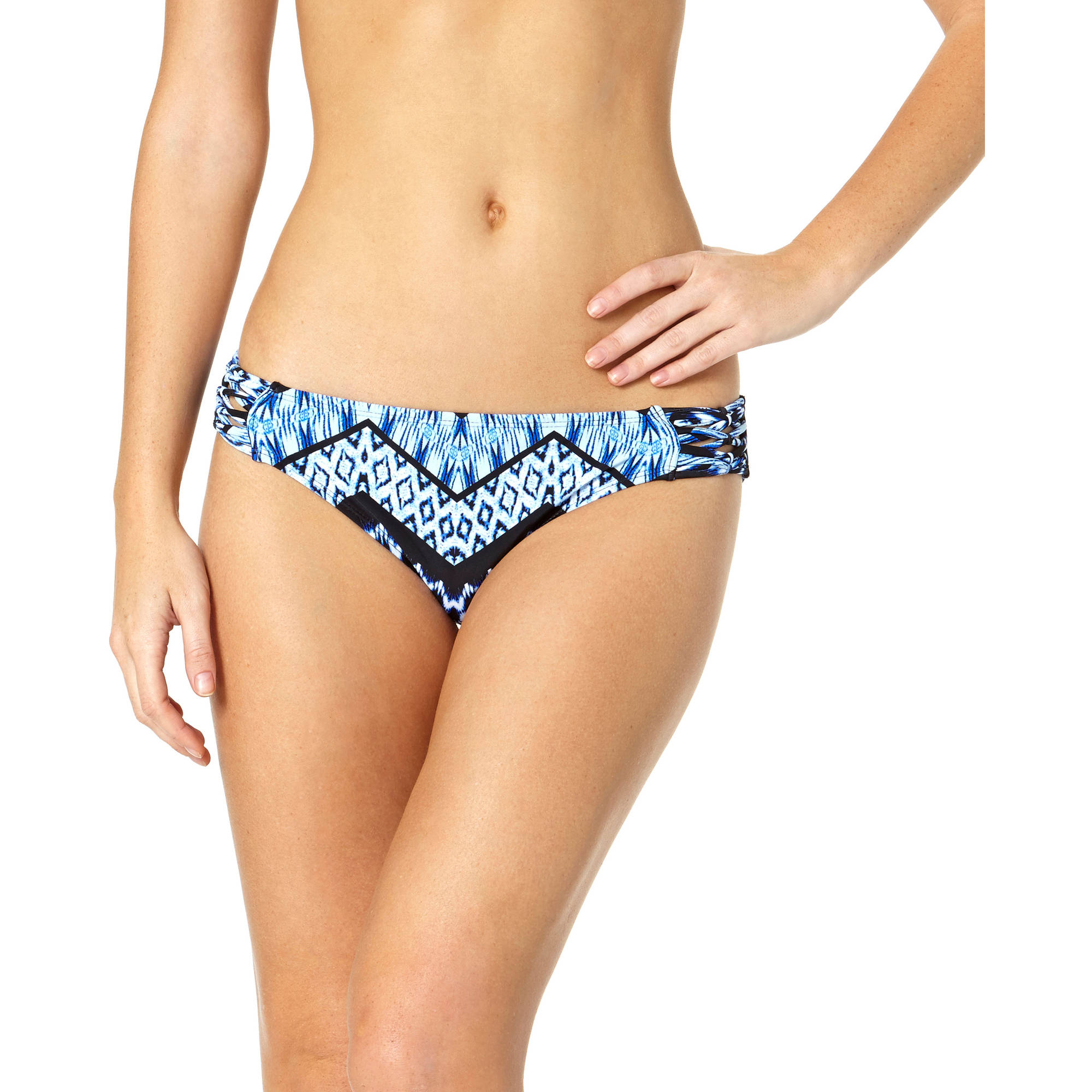 Tahiti Women's Macrame Tab Scoop Bikini Swimsuit Bottom
