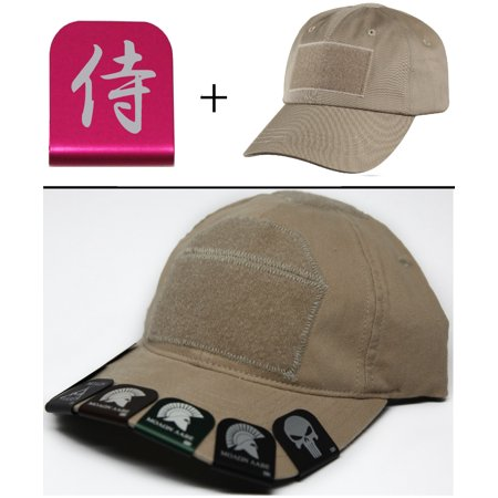 CHINESE SYMBOL Cap Crown Rim Brim-It Pink + Tan Hat