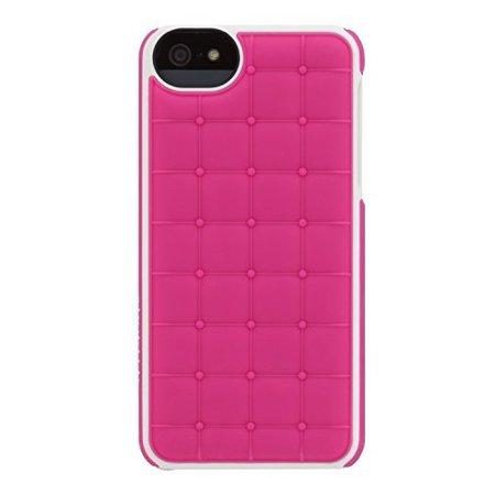 separation shoes aa6c6 47a7d Adopted Leather Cell Phone Case For Apple iPhone 5 5S SE Fuscia/White