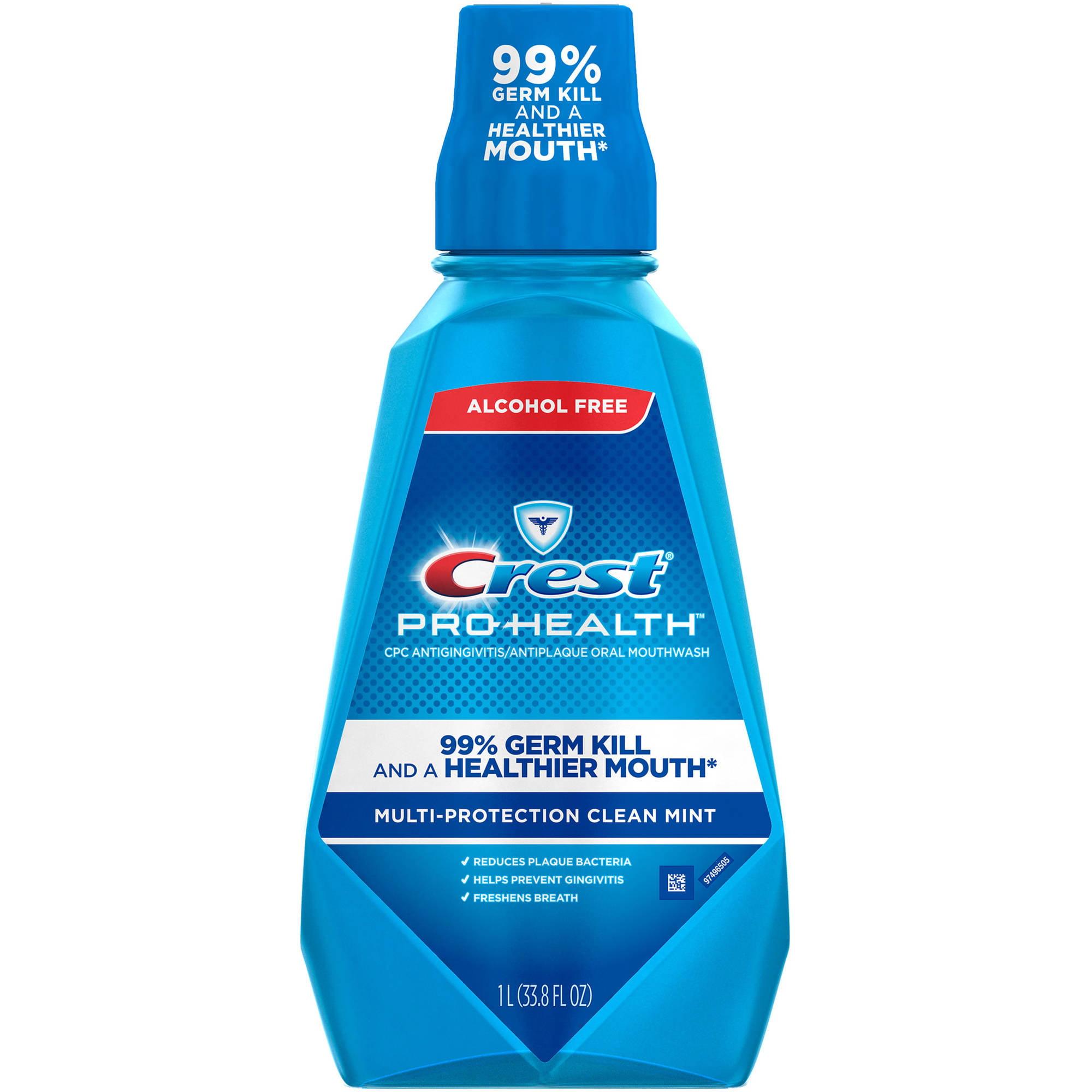 Crest Pro-Health Multi Protection Clean Mint Mouthwash, 33.8 fl oz