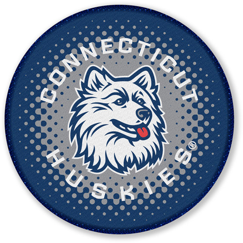 NCAA Round Bath Rug, Connecticut Huskies