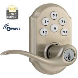 KWIKSET 99120-005 SmartCode+Z-Wave Satin Nickel Lever