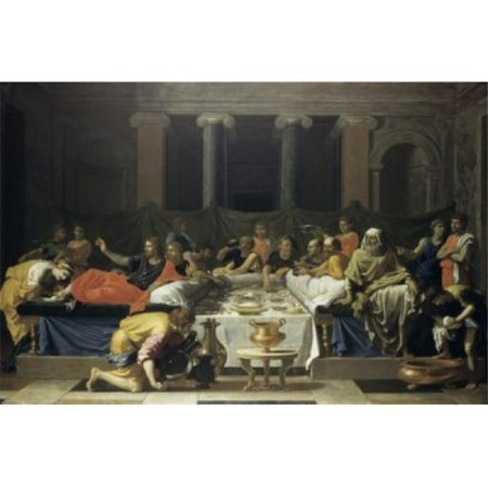 - Posterazzi SAL900102476 Mary Magdalene Anointing Jesus Feet Nicolas Poussin 1594-1665 French Oil on Canvas National Gallery of Scotland Edinburgh Poster Print - 18 x 24 in.