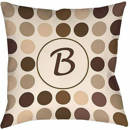 Thumbprintz Dots Monogram Neutral Decorative Pillows Walmart Classy Decorative Pillows With Circles