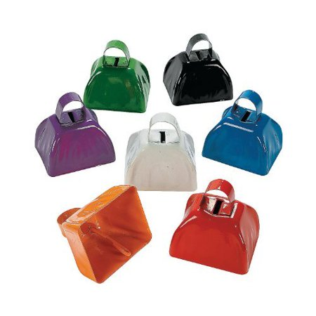 Assorted School Color Cowbells (1 dozen) - Bulk](Bulk Cowbells)