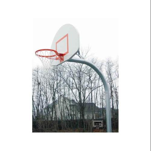 Standard Gooseneck Basketball Package w Fan-Shape Backboard