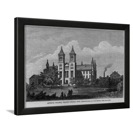 Antioch College, Yellow Springs, Ohio. Photographed by J. M. Foster. See Page 748. Framed Print Wall (Foster Photograph)