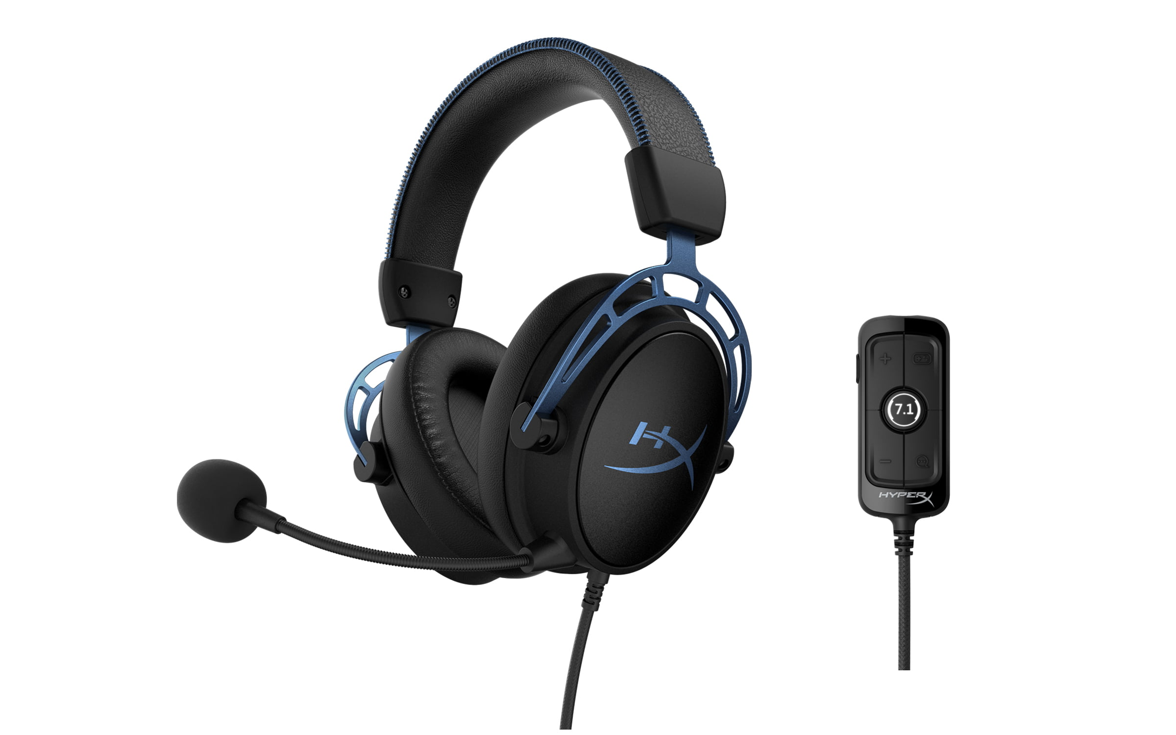 Hyperx Cloud Alpha S Gaming Headset For Pc 7 1 Surround Sound Adjustable Bass Dual Chamber Drivers Chat Mixer Breathable Leatherette Memory Foam And Noise Cancelling Microphone Walmart Com Walmart Com