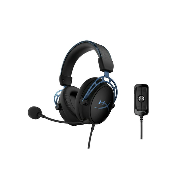 HyperX Cloud Alpha S - Gaming Headset, for PC, 7.1 Surround Sound, Adjustable Bass, Dual Chamber Drivers, Chat Mixer, Breathable Leatherette, Memory Foam, and Noise Cancelling Microphone