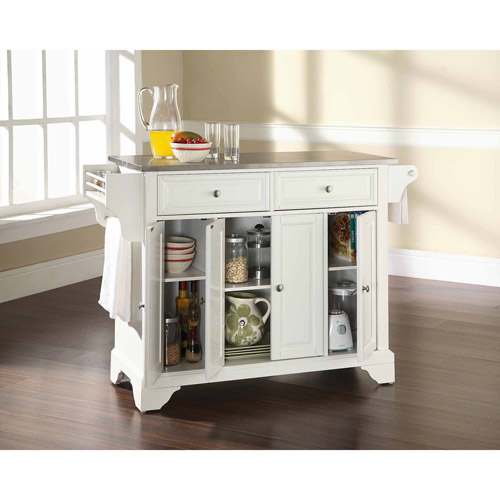 Crosley Furniture LaFayette Stainless Steel Top Kitchen Island