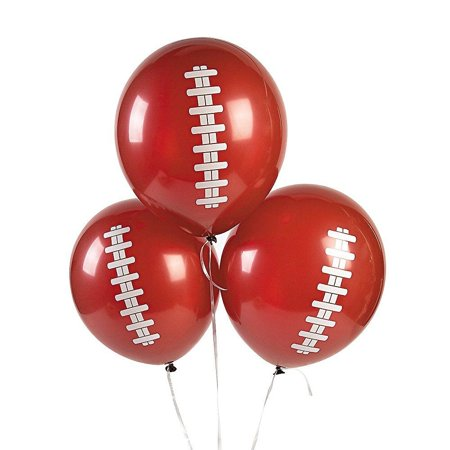 Football Tailgate Game Day Party Decorations Latex Balloons Lot of 12 - Football Balloon Weights