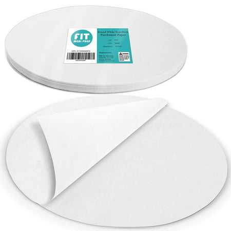 [250 Pack] 12 Inches Non-Stick Parchment Paper - Round White Baking Sheets, Wax Paper Liners for Cake Pan, for Steamer, Fryer and Oven, for Cakes, Cheesecakes, Pizza, Cookies, Meats and Vegetables