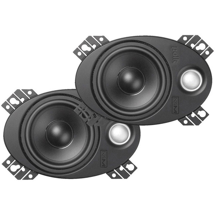 "Polk 4X6"" Marine Plate Coaxial Speaker 150W Max"