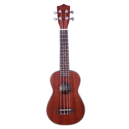 "Glarry New 21"" Soprano Concert Ukelele Sapele Wood Body for Beginner Student Professionals, Coffee, Diamond Pattern - image 7 of 7"
