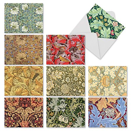 'M3308 WALL ART' 10 Assorted All Occasions Note Cards Featuring Designs Inspired By Vintage Wallpapers with Envelopes by The Best Card (Best Cool Wallpapers Hd)