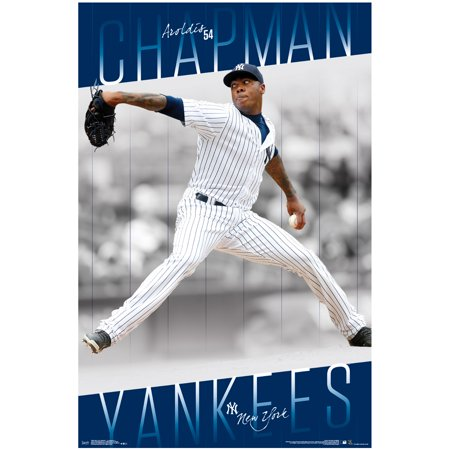 "Aroldis Chapman New York Yankees 23"" x 34"" Player Wall Poster - No Size"