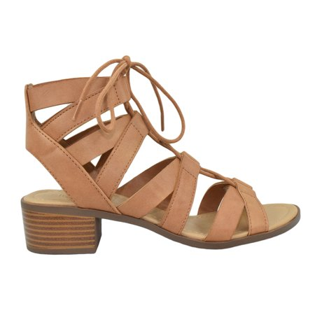 7dc41162f784 ... High Heel Lace Up Cut Out MOUSSE Brown Tan 7.5. Average rating 0out  of5stars